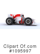 Royalty-Free (RF) Race Car Clipart Illustration #1095997