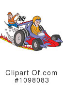Royalty-Free (RF) Race Car Clipart Illustration #1098083