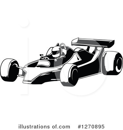 Race Car Driver Clipart #1270895 by dero