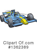 Race Car Clipart #1362389 by Clip Art Mascots