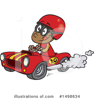 Race Car Driver Clipart #1498634 by toonaday