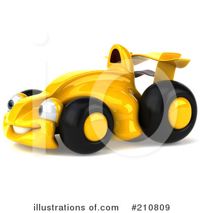 RoyaltyFree RF Race Car Clipart Illustration by Julos  Stock