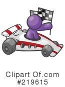 Royalty-Free (RF) Race Car Clipart Illustration #219615