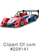 Royalty-Free (RF) Race Car Clipart Illustration #228141