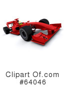 Royalty-Free (RF) Race Car Clipart Illustration #64046