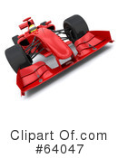 Royalty-Free (RF) Race Car Clipart Illustration #64047