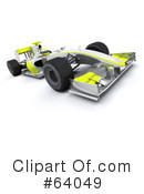 Royalty-Free (RF) Race Car Clipart Illustration #64049