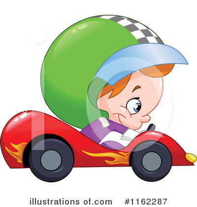 Royalty-Free (RF) Race Car Driver Clipart Illustration by yayayoyo - Stock Sample #1162287