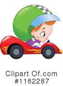 Royalty-Free (RF) race car driver Clipart Illustration #1162287