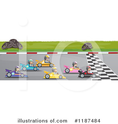 Race Track Clipart #1187484 by Graphics RF