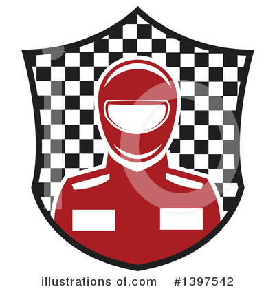 Race Car Driver Clipart #1397542 by Vector Tradition SM