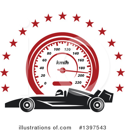 Motorsports Clipart #1397543 by Vector Tradition SM