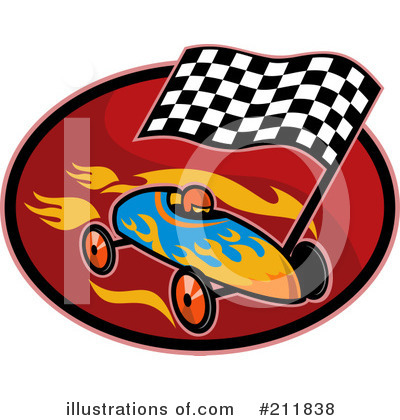 Auto Racing Free Clip  on Royalty Free  Rf  Racing Clipart Illustration By Patrimonio   Stock