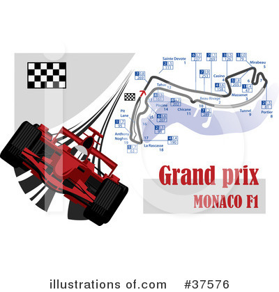 Black White Clip  Auto Racing on Racing Clipart  37576 By Eugene   Royalty Free  Rf  Stock