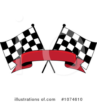 Auto Racing Clip  Graphic on Royalty Free  Rf  Racing Flag Clipart Illustration By Rogue Design And