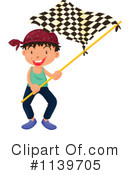 Royalty-Free (RF) racing flag Clipart Illustration #1139705