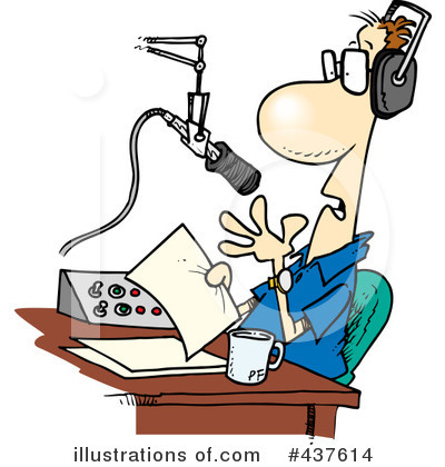 Royalty-Free (RF) Radio Clipart Illustration by toonaday - Stock Sample #437614