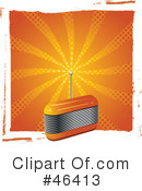 Royalty-Free (RF) radio Clipart Illustration #46413