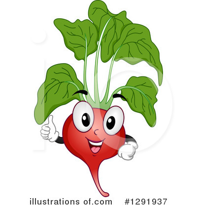 Royalty-Free (RF) Radish Clipart Illustration by BNP Design Studio - Stock Sample #1291937