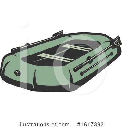 Royalty-Free (RF) Raft Clipart Illustration by Vector Tradition SM - Stock Sample #1617393