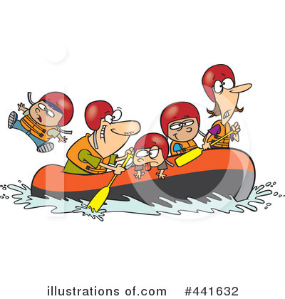 Royalty-Free (RF) Rafting Clipart Illustration by Ron Leishman - Stock Sample #441632
