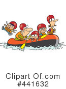 Royalty-Free (RF) rafting Clipart Illustration #441632