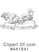Royalty-Free (RF) Rafting Clipart Illustration #441641