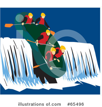 Royalty free rf rafting clipart illustration 65496 by dennis holmes