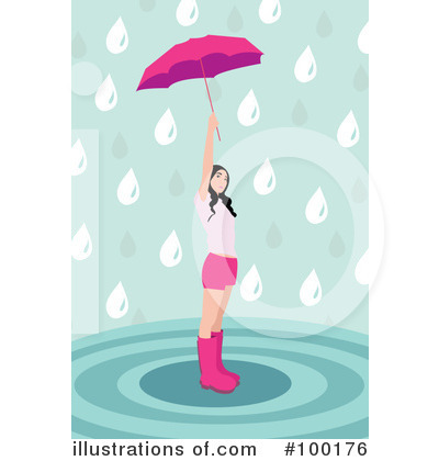 Royalty-Free (RF) Rain Clipart Illustration by mayawizard101 - Stock Sample #100176