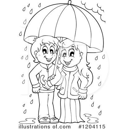 Rain Clipart 1204115 Illustration by visekart