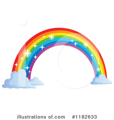 Royalty-Free (RF) Rainbow Clipart Illustration by visekart - Stock Sample #1182633