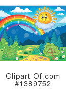 Royalty-Free (RF) Rainbow Clipart Illustration #1389752