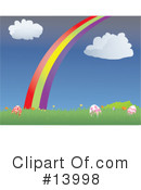 Royalty-Free (RF) Rainbow Clipart Illustration #13998