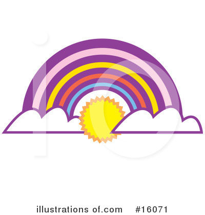 Royalty-Free (RF) Rainbow Clipart Illustration by Andy Nortnik - Stock Sample #16071
