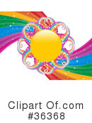 Royalty-Free (RF) Rainbow Clipart Illustration #36368