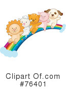 Royalty-Free (RF) Rainbow Clipart Illustration #76401