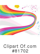 Royalty-Free (RF) Rainbow Clipart Illustration #81702