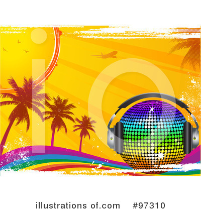 Royalty-Free (RF) Rainbow Clipart Illustration by elaineitalia - Stock Sample #97310