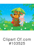 Royalty-Free (RF) raining Clipart Illustration #103525