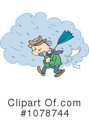 Royalty-Free (RF) raining Clipart Illustration #1078744