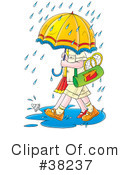 Royalty-Free (RF) Rainy Clipart Illustration #38237