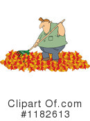 Royalty-Free (RF) Raking Leaves Clipart Illustration #1182613