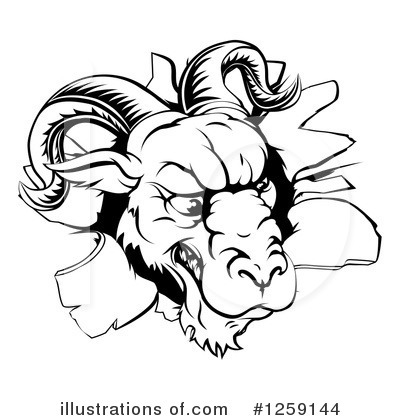 Ram Clipart #1259144 by AtStockIllustration