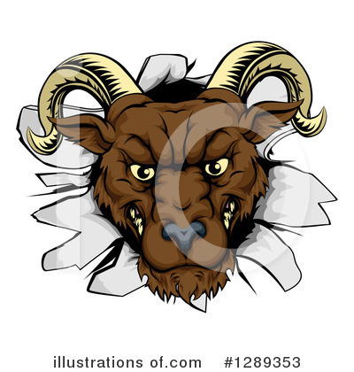 Ram Clipart #1289353 by AtStockIllustration
