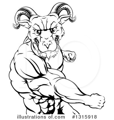 Ram Clipart #1315918 by AtStockIllustration