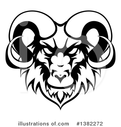 Ram Clipart #1382272 by AtStockIllustration