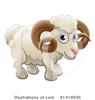 Ram Clipart #1418935 by AtStockIllustration