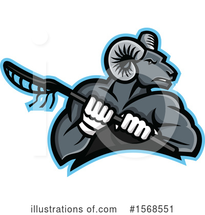 Royalty-Free (RF) Ram Clipart Illustration by patrimonio - Stock Sample #1568551