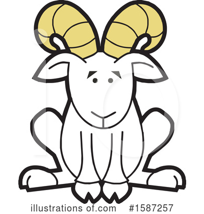 Royalty-Free (RF) Ram Clipart Illustration by Johnny Sajem - Stock Sample #1587257