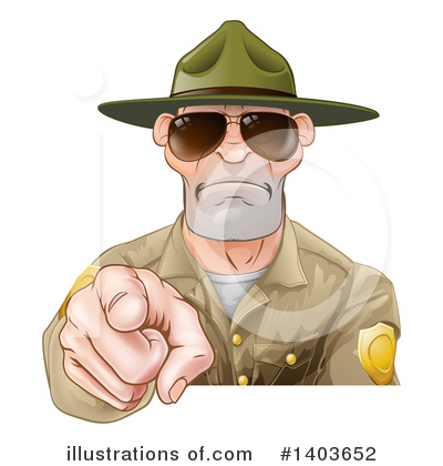 Drill Sergeant Clipart #1403652 by AtStockIllustration